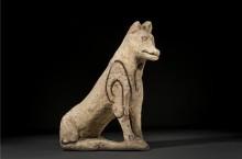 Ceramic Mesopotamian Figurine of a Dog