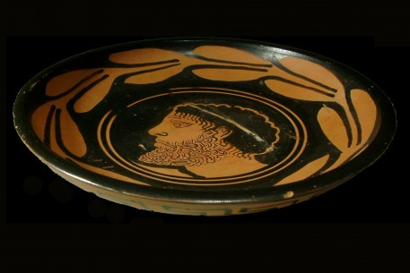 South Italian Red-Figure Terracotta Dish