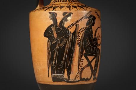 A Large Greek Attic Lekythos