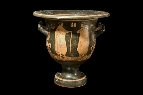 A Greek Painted Bell Krater