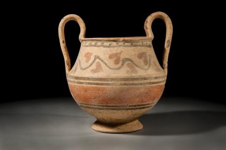 Phoenician Bichrome Ceramic Skyphoi