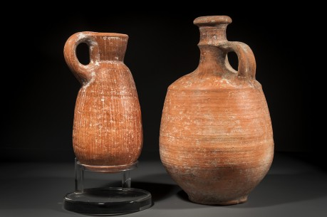 A Set of Two Israelite Red Slip Ceramic Vessels