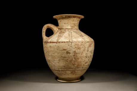 Large Canaanite Chocolate and White Ware Jug