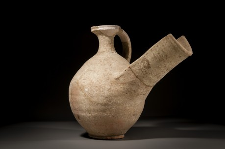 An Israelite/Judean Ceramic Wine Strainer
