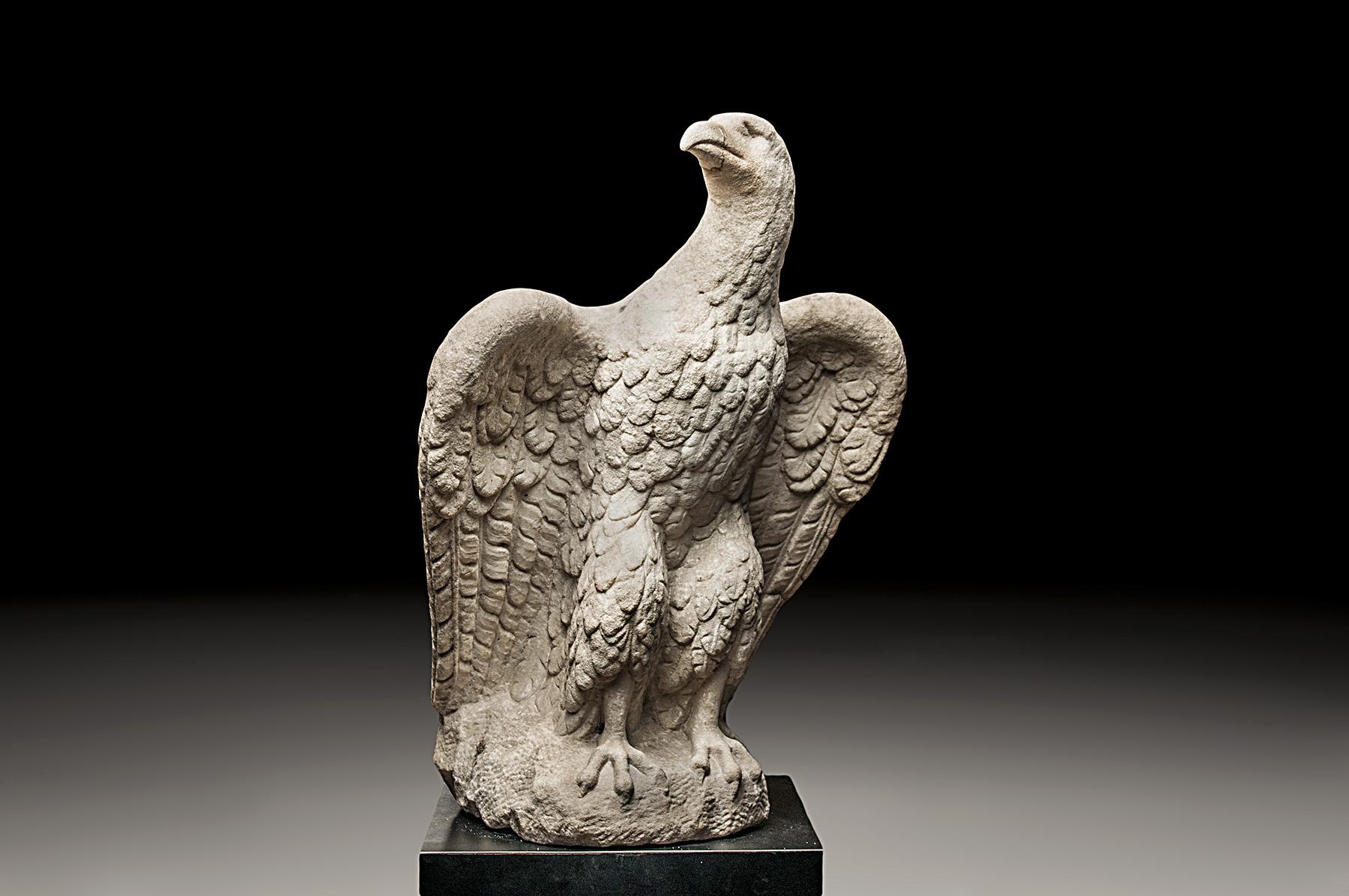 Monumental Imperial Roman Marble Eagle Baidun Baidun