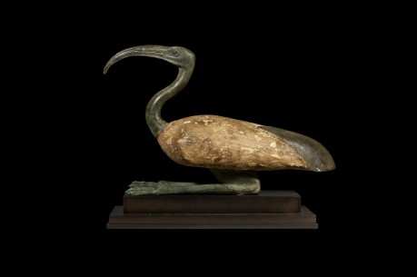 A Seated Figure of the God Thoth as an Ibis