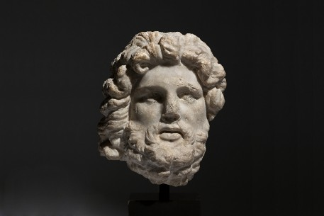 Hellenistic Marble Head of Zeus