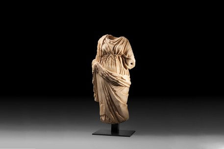 A Marble Statue of a Drapped Female