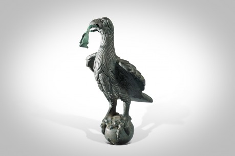Ancient Roman Bronze Statue (Statuette) of a Finely Detailed Roman Eagle