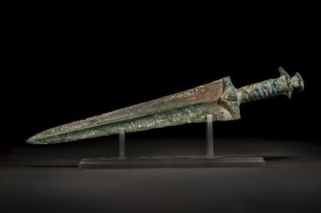 Wide Blade Bronze Persian Sword