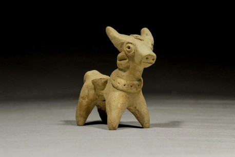 Hittite Ceramic Animal Carrying Two Baskets