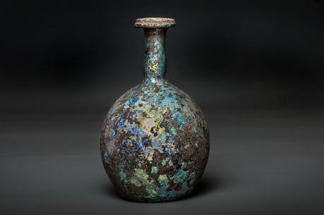A Large Roman Glass Bottle