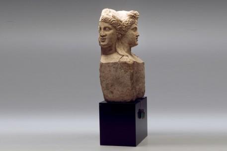 Roman Limestone Herm of Dionysus