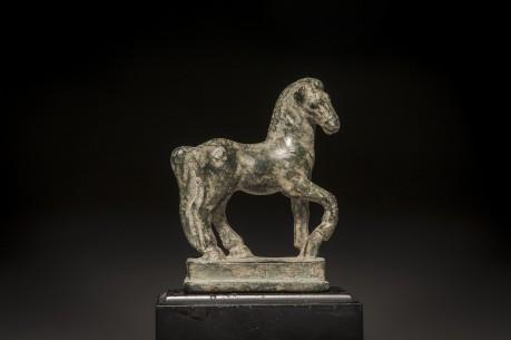 Roman Bronze Striding Horse