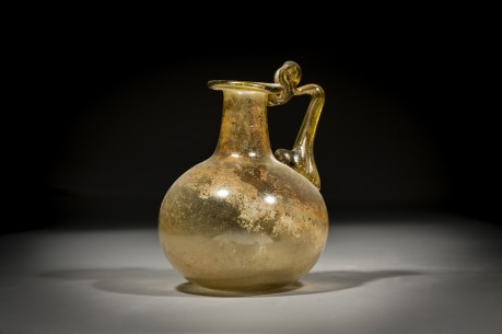 Roman Amber Glass Jug with One Handle