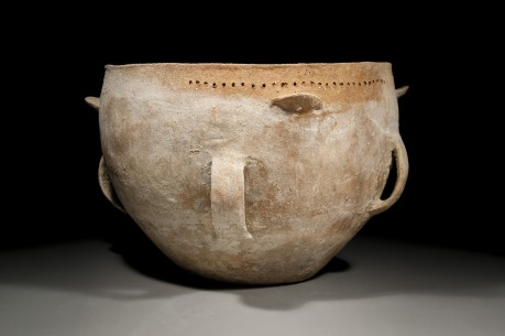 Large Canaanite Krater with Four Strap Handles