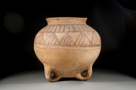 Canaanite Loop Footed Painted Jar