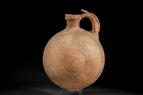 Phoenician Globular Jug with Double Stand Handle