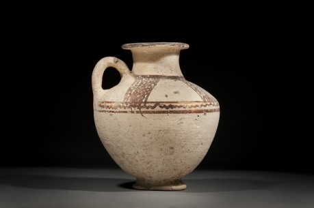 Canaanite Chocolate and White Ware Jug