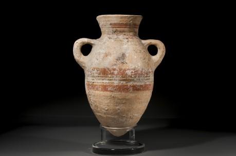 Phoenician Bichrome Ceramic Amphora