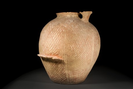 Large Canaanite Olive Oil Jar with a Dipper Holder