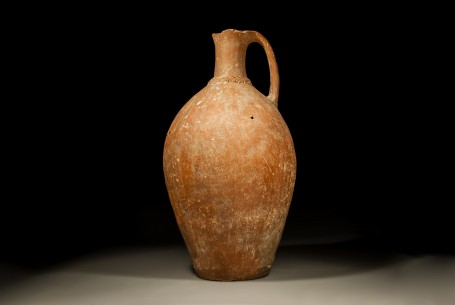 Red Slipped Canaanite Jug with Corded Collar