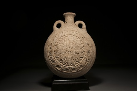 A Large Ceramic Pilgrim Flask