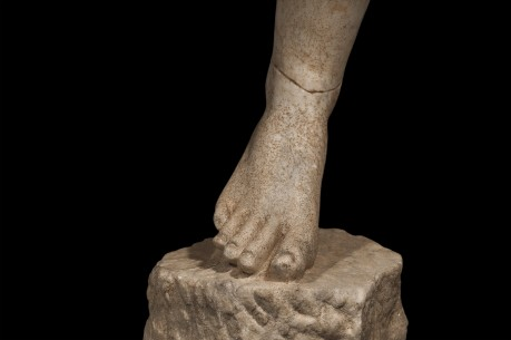 Outstanding Marble Life Size Right Leg of an Athlete