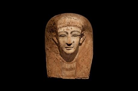 Wooden Sarcophagus Mask