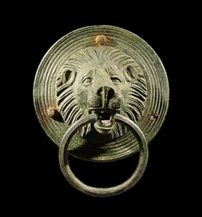 Bronze Handle in the Shape of a Lion's Head