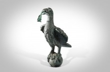Ancient Bronze Roman Statue (Statuette) of a Finely Detailed Roman Eagle