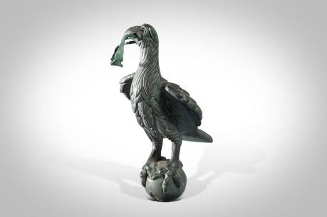 Ancient Roman Bronze Statue (Statuette) of a Finely Detailed Roman Eagle