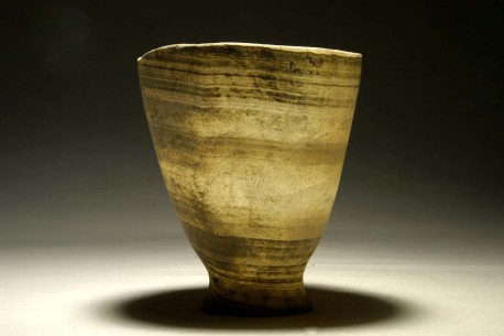 Banded Alabaster Conical Chalice