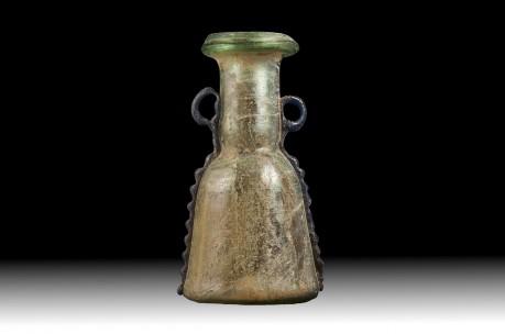 Byzantine Two Tone Glass Flask