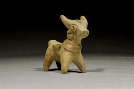 Hittite Ceramic Animal Carrying Two Baskets