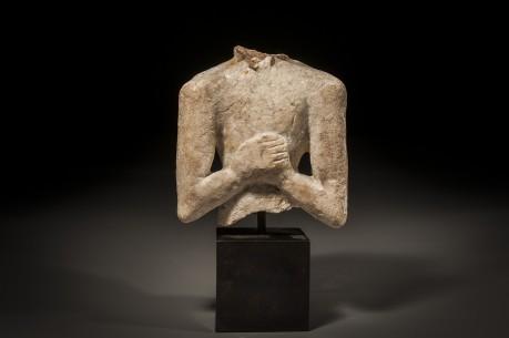 Marble Sumerian Janiform Figurine