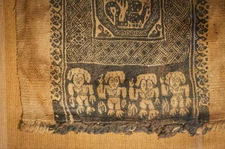 Woven Cloth with Lion Frieze and Ornamental Bands