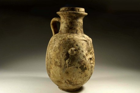 "A Phoenician Jug in the form of the Egyptian God BES ""Protector of Childbirth"""